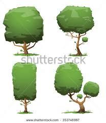 set flat trees vector stock vector 294231293