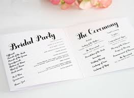 wedding reception programs exles wedding program wording everafterguide