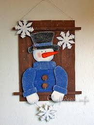 wooden snowman christmas and winter woodcrafts snowman wall decoration