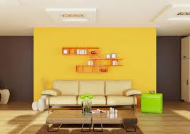 golden yellow paint living room home design