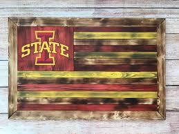 wooden iowa state flag 55 etsy shop kaiusandco kaius