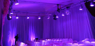 draping rentals stage lights and sound rentals production services pipe and