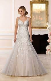 flowing wedding dresses flowing tulle a line wedding dress stella york wedding dresses