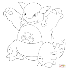kangaskhan coloring page free printable coloring pages