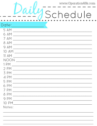 printable daily schedule free printable daily schedule tips pinterest free printable