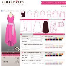 selbst designen coco myles design tool für individuelle kleider