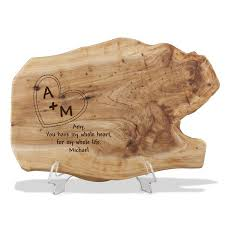 wooden personalized gifts wood root plaque for couples