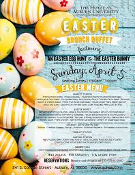 Easter Brunch Buffet Menu by Easter Brunch At The Hotel At Auburn University