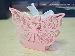 baptism favor boxes happy birthday party supplies laser cut butterfly favor boxes for