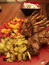 mediterranean rack of lamb u2013 christmas eve eve dinner dec 2009