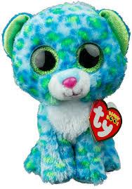 ty beanie boos gabby the 6 beanie boos leona the blue leopard leona beanie boo leopard