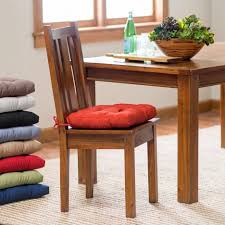 classic colorful kitchen table chair cushions and varnished wooden