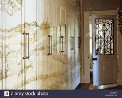 Ornate Interior Doors Landscape Mural Painted On Fitted Cupboards In With Ornate