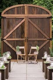 wedding arch using doors diy wedding barn door backdrop made from pallets wedding project