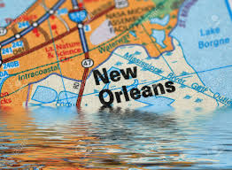 Maps Of New Orleans by Map Of New Orleans With A Flood Illustration Stock Photo Picture