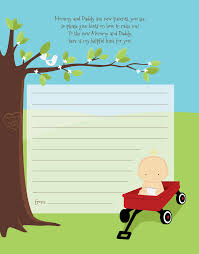 baby shower notes wagon baby shower notes of advice