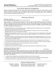 retail store manager resume objective examples assistant operation