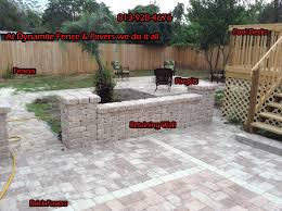 Paver Patio With Retaining Wall by Fences Tampa Retaining Walls Tampa Brick Pavers Tampa Florida
