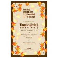 fall leaves thanksgiving invitations paperstyle