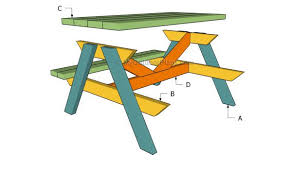 Free Plans For Picnic Table Bench Combo by Kids Picnic Table Plans Myoutdoorplans Free Woodworking Plans