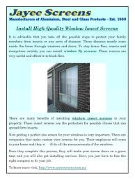 install high quality window insect screens pdf pdf archive
