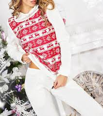 Sweater Pajamas Pajamas Jumpsuit 2 Set Reindeer Sweater Reindeer