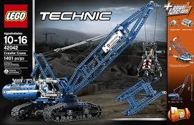 amazon com lego technic 42042 crawler crane toys u0026 games
