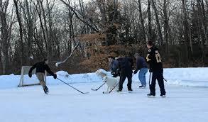 backyard pond hockey backyard and yard design for village