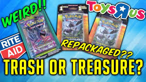 repackaged card products from rite aid and toys r