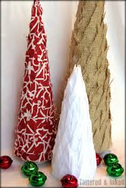 diy fabric trees pictured tutorial
