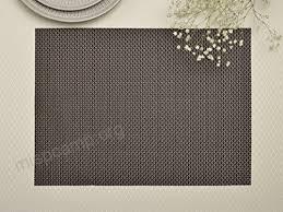 large plastic table mats veeyoo woven vinyl non slip insulation heat stain resistant washable