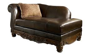articles with brown leather sectional with chaise and ottoman tag