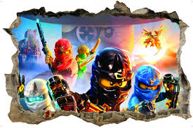 ninjago 3d style wall sticker lego ninjago 3d style wall sticker