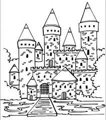 coloriage chateaux les beaux dessins de à imprimer et colorier