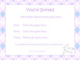 Sample Invitation Card For An Event Template Free Baby Shower Invitation Templates