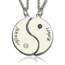 best friends necklace set images Engraved best friends bff yin yang necklaces set of 2 jpg
