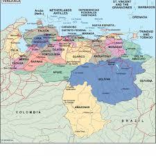 Map Of Venezuela Venezuela Political Map Eps Illustrator Map Our Cartographers