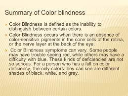 Blindness Chapter Summaries Color Blindess By John Daniel U201cjd U201d Fogarty And Jude Kweku Poku
