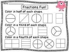 fraction booklet ideal for first graders math math math