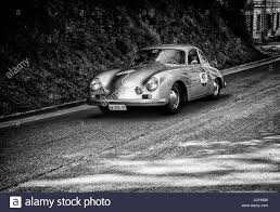 old porsche race car porsche 356 a 1500 gs carrera 1956 on an old racing car in rally