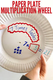math games for kids paper plate multiplication wheel