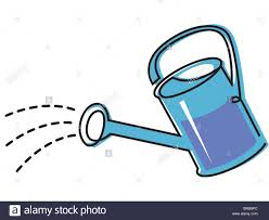 drawing of a watering can stock photo royalty free image