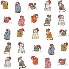 cat wrapping paper cat christmas wrapping paper gift set by