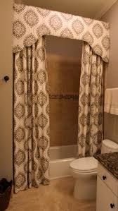 shower curtain with cornice design by lori parane fabrication by camille moore window treatments