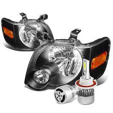 Ford Explorer Headlights - 06 10 ford explorer sport trac replacement headlight black