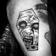 simple evil tattoo a black ink simple evil dead face tattoo idea golfian com