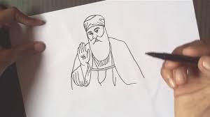 drawing guru nanak jayanti for kids guru nanak how to draw
