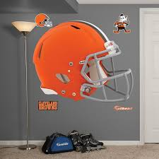 amazon com nfl cleveland browns helmet wall graphics sports