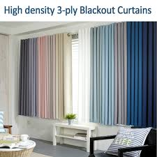 3 ply full dull blackout window curtain korea solid 11 color 99