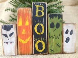 primitive boo ghost pumpkin dracula shelf sitter